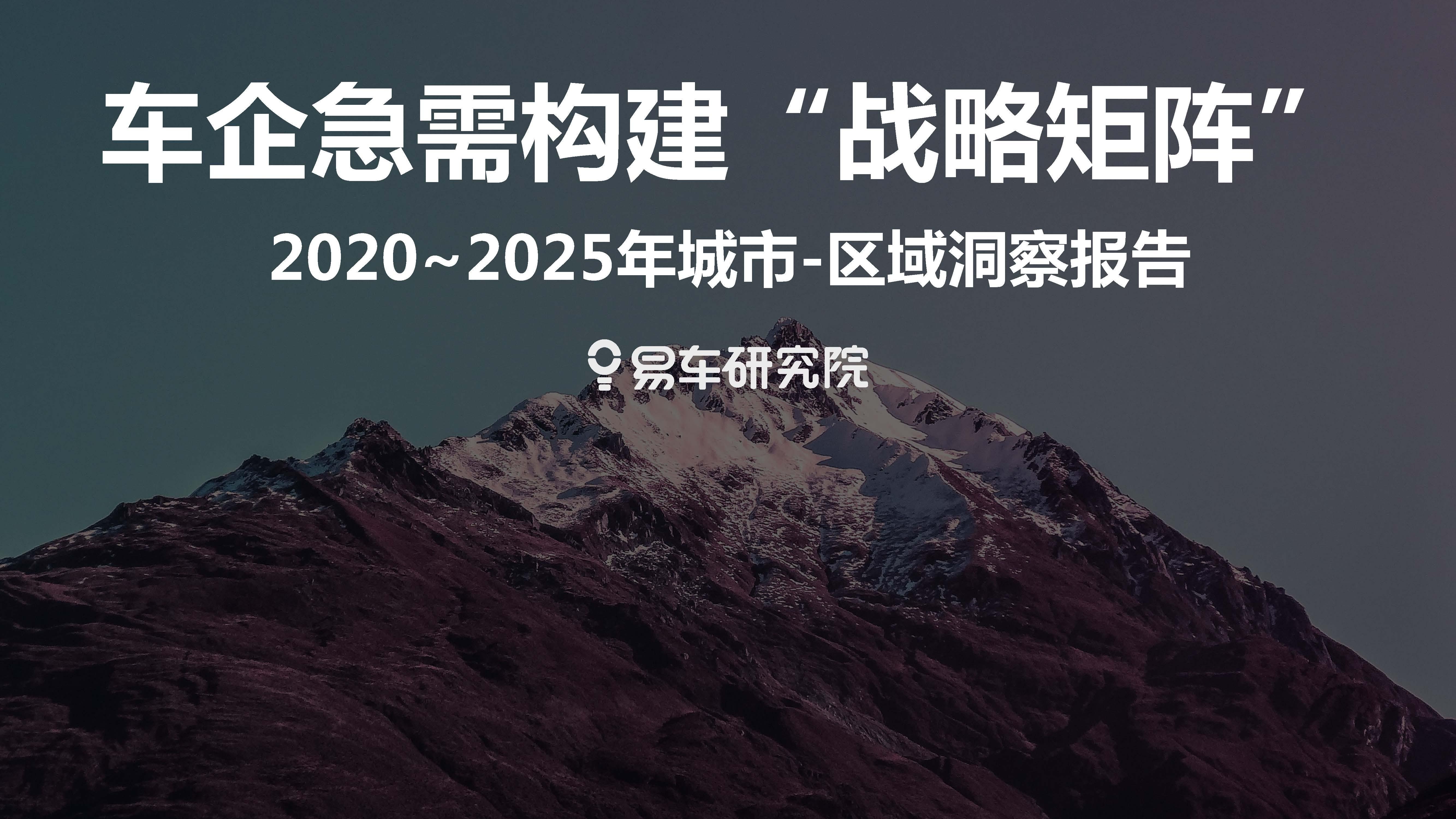 """易车:2020~2025年城市-区域洞察报告—车企急需构建""""战略矩阵""""(附下载地址)"""